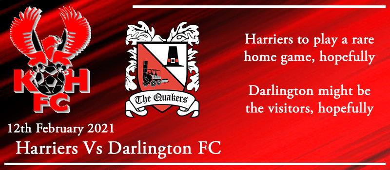 12-02-21 - Preview - Kidderminster Harriers Vs Darlington FC