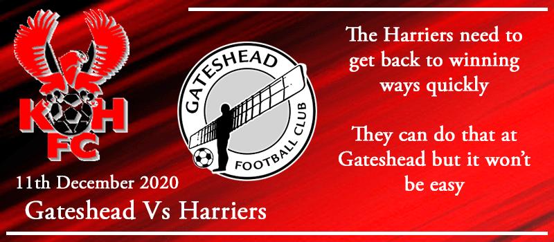 11-12-20 - Preview - Gateshead Vs Kidderminster Harriers