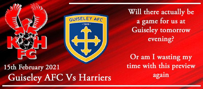 15-02-21 - Preview - Guiseley AFC Vs Kidderminster Harriers