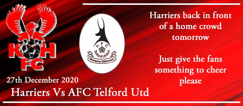 27-12-20 - Preview - Kidderminster Harriers Vs AFC Telford Utd