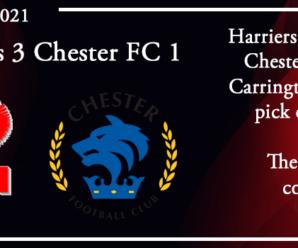 30-08-21 – Report – Kidderminster Harriers 3 Chester FC 1