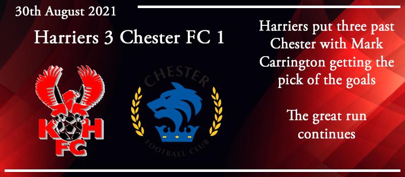 30-08-21 - Report - Kidderminster Harriers 3 Chester FC 1