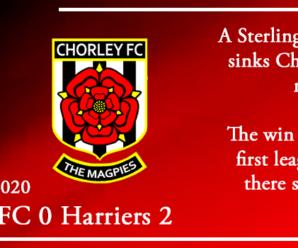 24-10-20 – Report – Chorley FC 0 Kidderminster Harriers 2