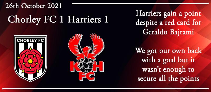 26-10-21 – Report – Chorley FC 1 Kidderminster Harriers 1