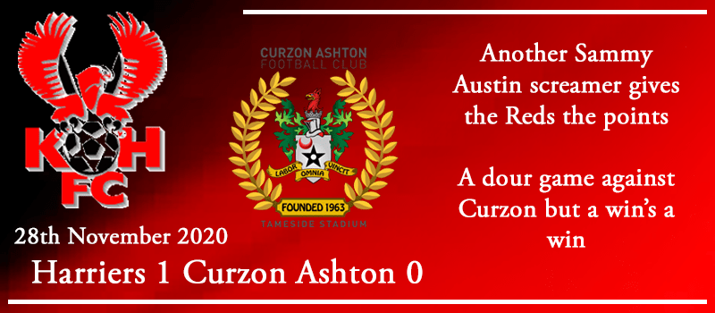 28-11-20 - Report - Kidderminster Harriers 1 Curzon Ashton 0