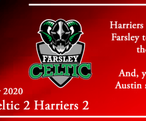 21-11-20 – Report – Farsley Celtic FC 2 Kidderminster Harriers 2