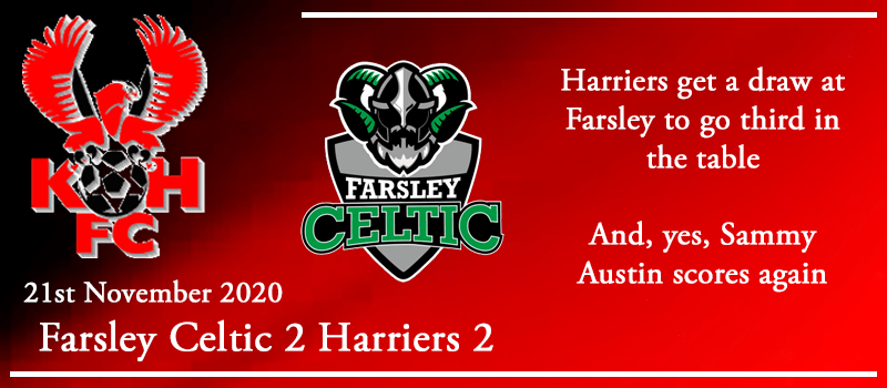 21-11-20 - Report - Farsley Celtic FC 2 Kidderminster Harriers 2