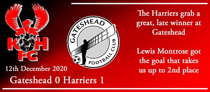 12-12-20 - Report - Gateshead 0 Kidderminster Harriers 1