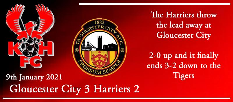 09-01-21 – Report – Gloucester City 3 Kidderminster Harriers 2