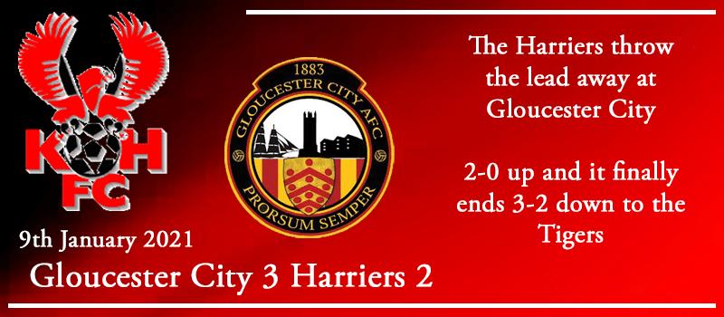 09-01-21 - Report - Gloucester City 3 Kidderminster Harriers 2