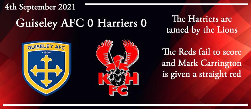 04-09-21 - Report - Guiseley AFC 0 Kidderminster Harriers 0