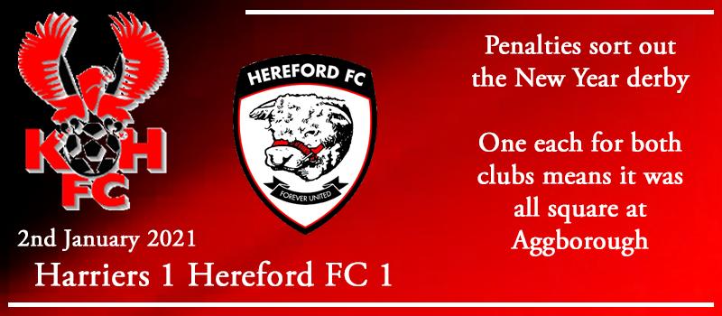 02-01-21 – Report – Kidderminster Harriers 1 Hereford FC 1