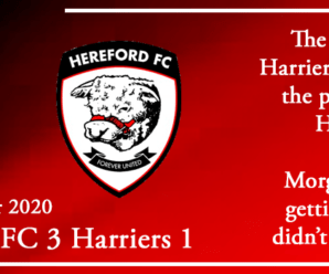 26-12-20 – Report – Hereford FC 3 Kidderminster Harriers 1