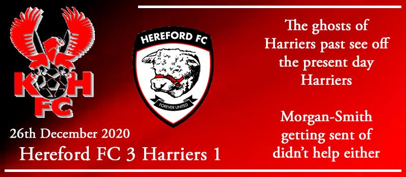 26-12-20 - Report - Hereford FC 3 Kidderminster Harriers 1
