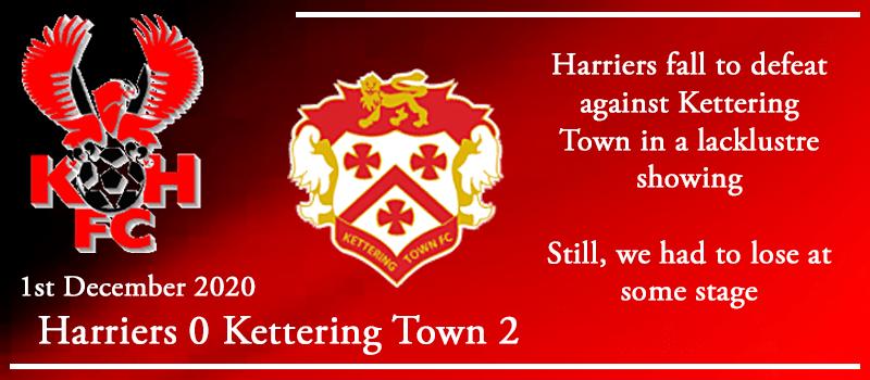 01-12-20 - Report - Kidderminster Harriers 0 Kettering Town 2