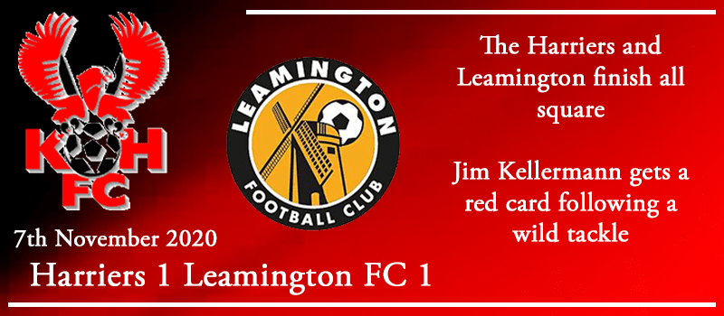 07-11-20 - Report - Kidderminster Harriers 1 Leamington FC 1
